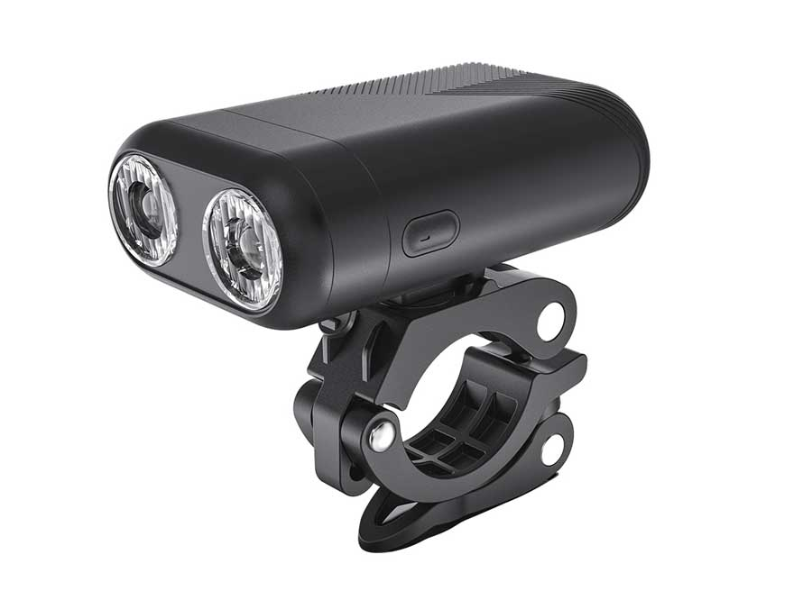 Sate-Lite USB rechargeable bicycle headlight with twin optical lens design S601