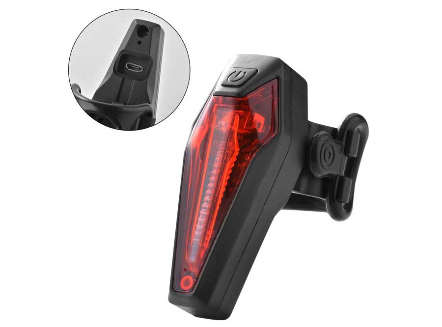 LR-01 Sate-Lite USB rechargeable seat post bicycle rear light