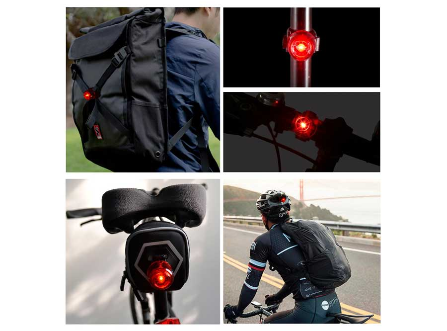LR-02 Sate-Lite USB rechargeable bicycle taillight with ROHS/ CE approved