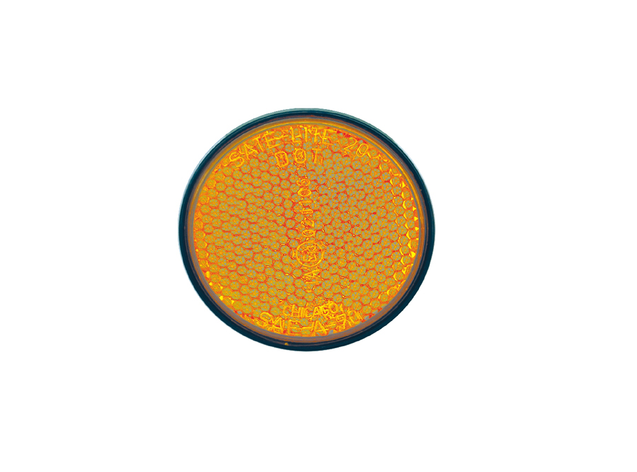 Motorcycle Reflector Round Yellow/600PK 40-0020-12