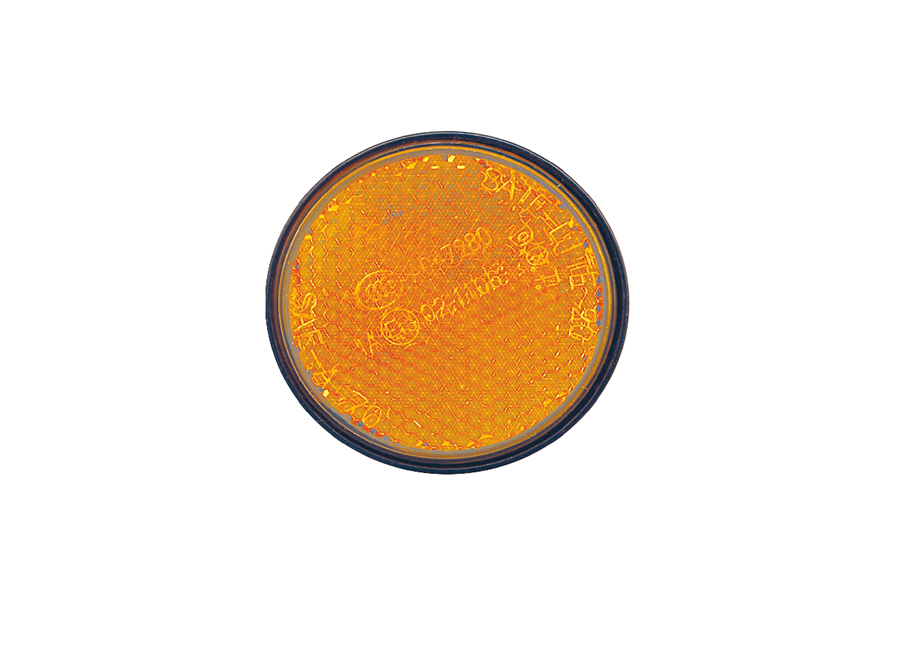 Motorcycle Reflector Round Yellow  40-0020-02ARC