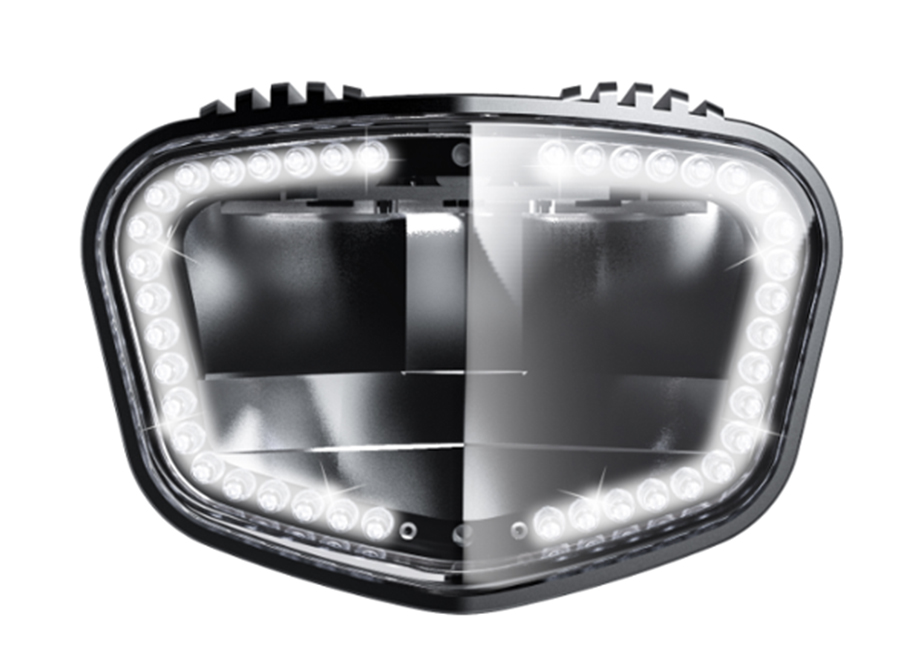 2019 sate-lite ECE R113 complied 1900 lumens super-bright headlight IPX6 waterproof 40 LEDs automotive daytime running light