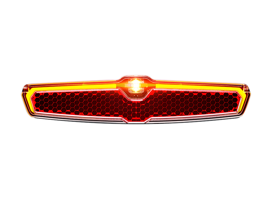 Sate-lite CREE ebike light  StVZO  eletric bike tail light with StVZO ECE reflector  mount on Carrier 6-58V