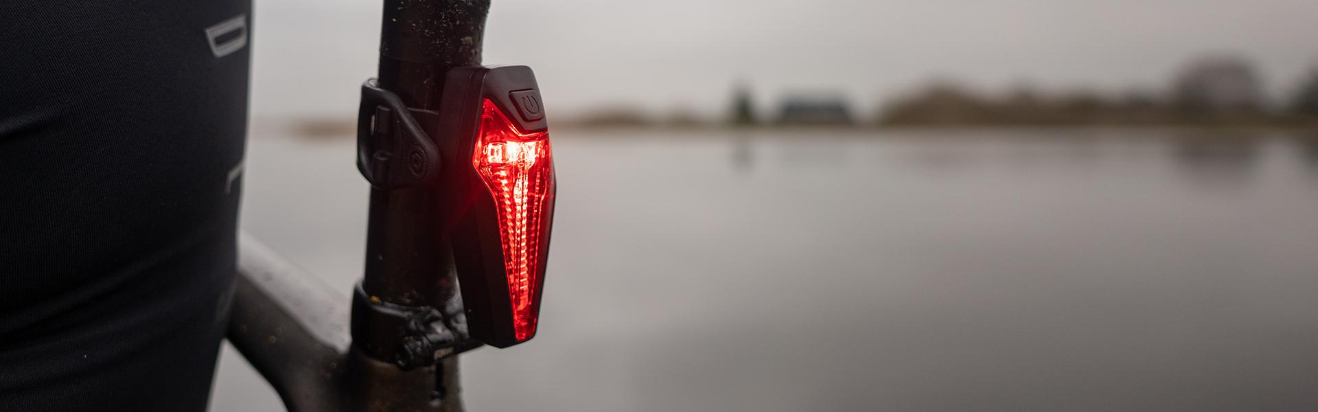 Sate-lite CREE ebike light  StVZO  eletric bike tail light with StVZO Z ECE Zreflector mount on Carrier 6-48V
