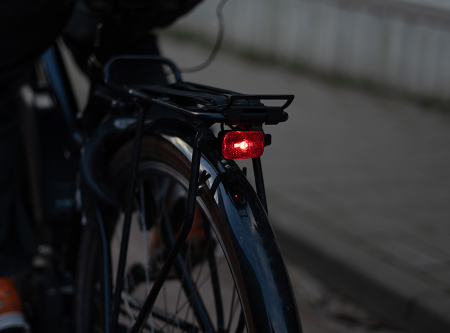 Sate-lite CREE ebike light ISO 6721-1 StVZO ECE R50 eletric bike rear light with  ISO 6721-2 StVZO Z reflector  mount on Carrier 6-48V