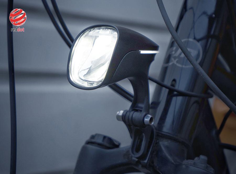 Sate-lite OSRAM 110lux ebike light ISO 6721-1 StVZO ECE eletric bike headlight with ECE reflector front fork 12-58V