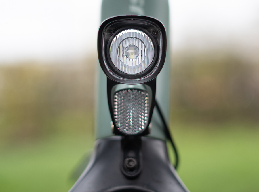 Sate-lite OSRAM 50lux ebike light ISO 6721-1 StVZO CE eletric bike headlight with ECE reflector front fork 6-58V